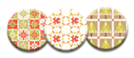 Quilt Dot Magnets: Christmas Morning Set w/ Bag Tag