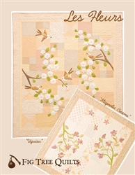 Two complete quilt patterns inspired by the magnolias outside my bedroom window and a small Japanese lark