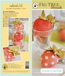 Romantic strawberry pincushions to brighten every room in your house